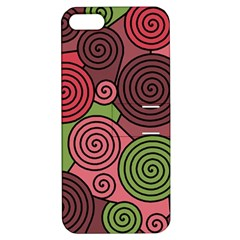 Red and green hypnoses Apple iPhone 5 Hardshell Case with Stand