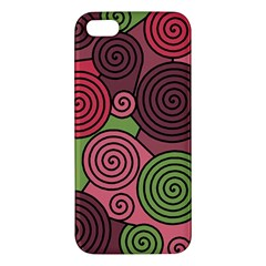 Red and green hypnoses Apple iPhone 5 Premium Hardshell Case