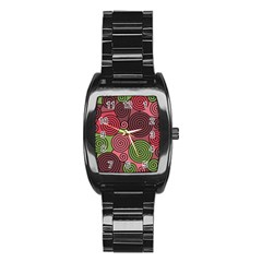 Red and green hypnoses Stainless Steel Barrel Watch