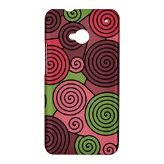 Red and green hypnoses HTC One M7 Hardshell Case