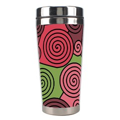 Red and green hypnoses Stainless Steel Travel Tumblers