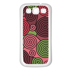 Red and green hypnoses Samsung Galaxy S3 Back Case (White)