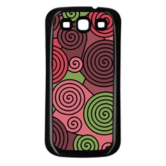 Red and green hypnoses Samsung Galaxy S3 Back Case (Black)