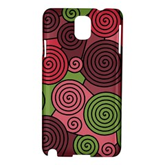 Red and green hypnoses Samsung Galaxy Note 3 N9005 Hardshell Case