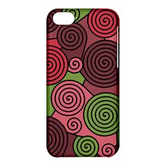 Red and green hypnoses Apple iPhone 5C Hardshell Case