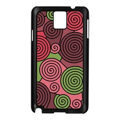 Red and green hypnoses Samsung Galaxy Note 3 N9005 Case (Black)