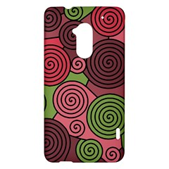 Red and green hypnoses HTC One Max (T6) Hardshell Case