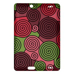 Red and green hypnoses Amazon Kindle Fire HD (2013) Hardshell Case