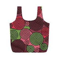 Red and green hypnoses Full Print Recycle Bags (M)