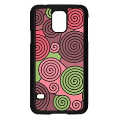 Red and green hypnoses Samsung Galaxy S5 Case (Black)
