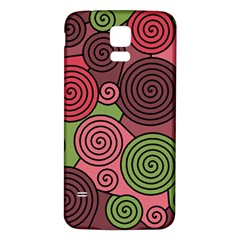 Red and green hypnoses Samsung Galaxy S5 Back Case (White)