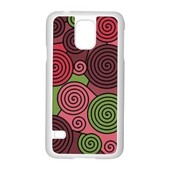 Red and green hypnoses Samsung Galaxy S5 Case (White)