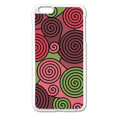 Red and green hypnoses Apple iPhone 6 Plus/6S Plus Enamel White Case