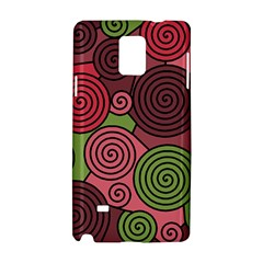 Red and green hypnoses Samsung Galaxy Note 4 Hardshell Case