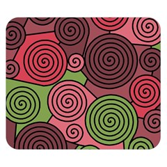 Red and green hypnoses Double Sided Flano Blanket (Small)