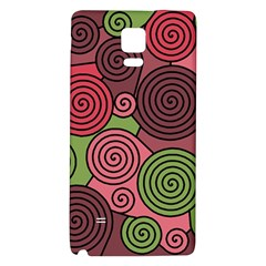 Red and green hypnoses Galaxy Note 4 Back Case