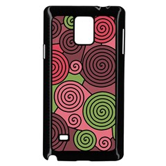 Red and green hypnoses Samsung Galaxy Note 4 Case (Black)