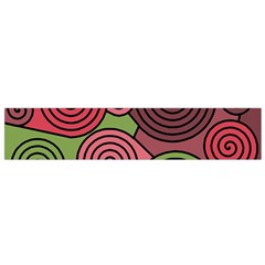 Red and green hypnoses Flano Scarf (Small)