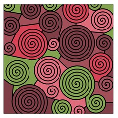 Red and green hypnoses Large Satin Scarf (Square)