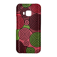 Red and green hypnoses HTC One M9 Hardshell Case