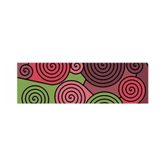 Red and green hypnoses Satin Scarf (Oblong)