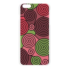 Red and green hypnoses Apple Seamless iPhone 6 Plus/6S Plus Case (Transparent)