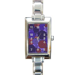 Blue and red hypnoses  Rectangle Italian Charm Watch