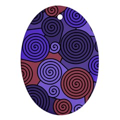 Blue and red hypnoses  Ornament (Oval)