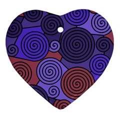 Blue and red hypnoses  Ornament (Heart)