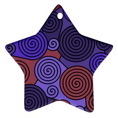 Blue and red hypnoses  Ornament (Star)