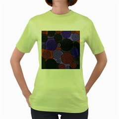 Blue and red hypnoses  Women s Green T-Shirt
