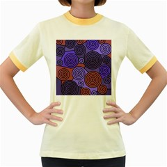 Blue and red hypnoses  Women s Fitted Ringer T-Shirts