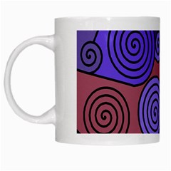 Blue and red hypnoses  White Mugs