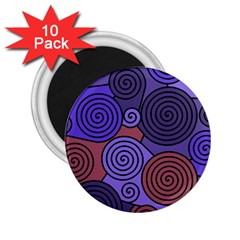 Blue and red hypnoses  2.25  Magnets (10 pack)