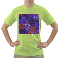 Blue and red hypnoses  Green T-Shirt