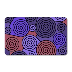 Blue and red hypnoses  Magnet (Rectangular)