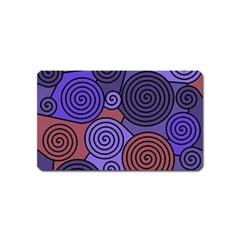 Blue and red hypnoses  Magnet (Name Card)
