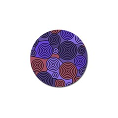 Blue and red hypnoses  Golf Ball Marker (4 pack)