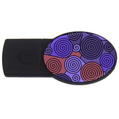 Blue and red hypnoses  USB Flash Drive Oval (1 GB)