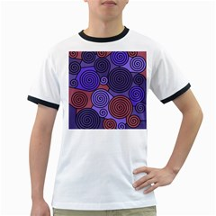 Blue and red hypnoses  Ringer T-Shirts