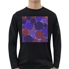 Blue and red hypnoses  Long Sleeve Dark T-Shirts