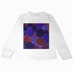 Blue and red hypnoses  Kids Long Sleeve T-Shirts