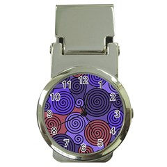 Blue and red hypnoses  Money Clip Watches