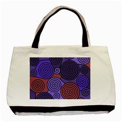 Blue and red hypnoses  Basic Tote Bag