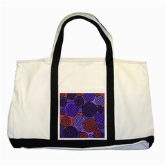 Blue and red hypnoses  Two Tone Tote Bag