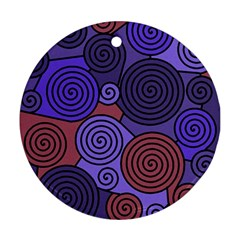 Blue and red hypnoses  Round Ornament (Two Sides)