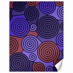 Blue and red hypnoses  Canvas 12  x 16