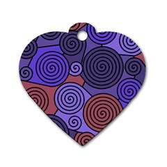 Blue and red hypnoses  Dog Tag Heart (Two Sides)