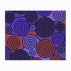 Blue and red hypnoses  Small Glasses Cloth (2-Side)