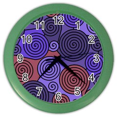 Blue and red hypnoses  Color Wall Clocks